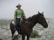 Cowgirl im Schnee