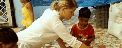 Sozialarbeit mit Kindern in Goa