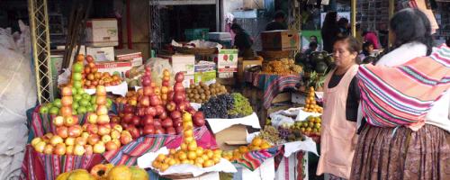 Marktstand in Cochabamba