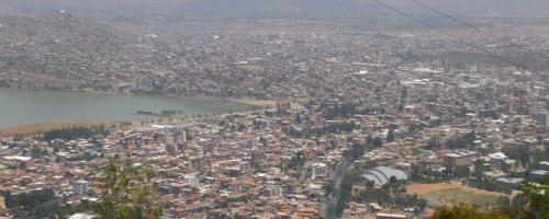 Blick auf Cochabamba