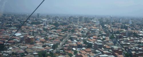 Blick über Cochabamba